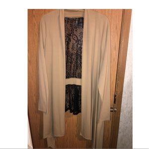 EUC Bisou Bisou lace cardigan